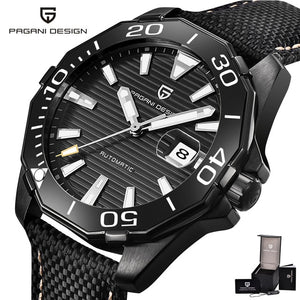 PAGANI DESIGN PD1617 Automatic Watch Men Mechanical Mens Watches 100M Waterproof Diving Male Clock Full Stainless Steel Relogio