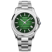 Load image into Gallery viewer, AGELOCER Swiss Men Automatic Self Wind Mechanical Watch Saphire Stainless Steel Simple Business Blue Rose Gold Green Date Watch