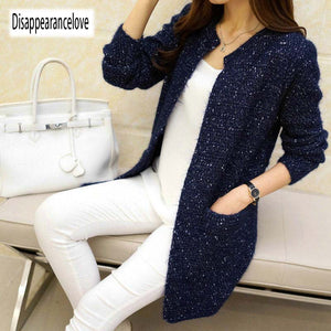Autumn Winter Women Casual Long Sleeve Knitted Cardigans 2020 New Crochet Ladies Sweaters Fashion Tricotado Cardigan