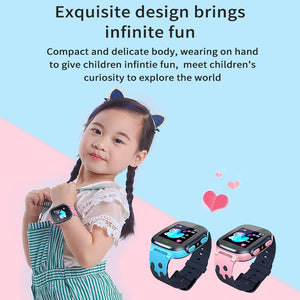 Children's Smart Watch SOS Phone Watch Smartwatch For Kids With Sim Card Photo Waterproof IP67 Kids Gift For IOS Android vs Q12