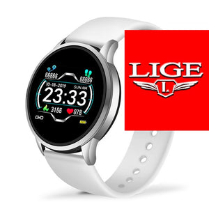 LIGE Fashion Smart Watch Men Women Sport Fitness Tracker for Android ios Heart Rate Blood Pressure Monitor Waterproof smartwatch