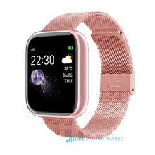 Load image into Gallery viewer, Fashion Stainless Steel Smart Watch Women Men Electronics Sport Wrist Watch For Android IOS Square Smartwatch Smart Clock Hours