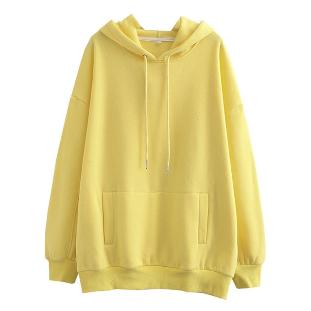 Tangada women fleece hoodie sweatshirts winter japanese fashion 2020 oversize ladies pullovers warm pocket hooded jacket SD60