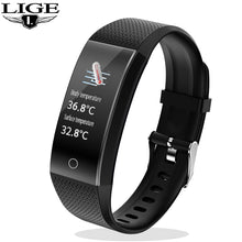 Load image into Gallery viewer, LIGE New Men and Women Smart Watch IP68 Blood Pressure and Heart Rate Body Temperature Measurement Waterproof Sports Smartwatch