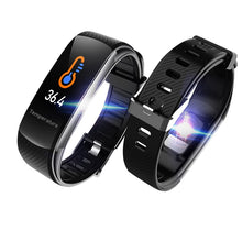 Load image into Gallery viewer, C6T Body Temperature Smart Bracelet Watch Waterproof Heart Rate Monitor Smartband Wristband Fitness Health Tracker Smartwatch