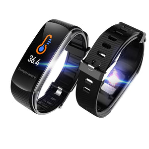 C6T Body Temperature Smart Bracelet Watch Waterproof Heart Rate Monitor Smartband Wristband Fitness Health Tracker Smartwatch