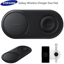 Load image into Gallery viewer, Original Samsung Wireless Charger Double fast charge Pad For Samsung Galaxy S20/S10/S9/S8/Note10+/Smart Watch Active 2 EP-P5200