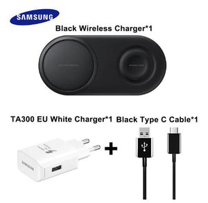 Original Samsung Wireless Charger Double fast charge Pad For Samsung Galaxy S20/S10/S9/S8/Note10+/Smart Watch Active 2 EP-P5200