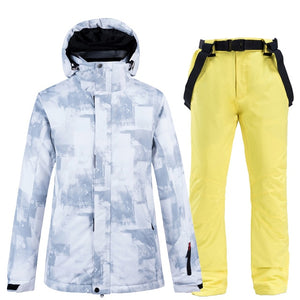 Skiing jackets and pants Men ski suit Snowboarding sets Very Warm Windproof Waterproof Snow outdoor Winter Clothes