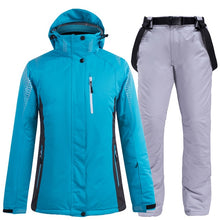 Load image into Gallery viewer, Ski Suit Men and Women winter street waterproof windproof Moisture-proof thermal Snow jacket and pants ski and snowboard suits