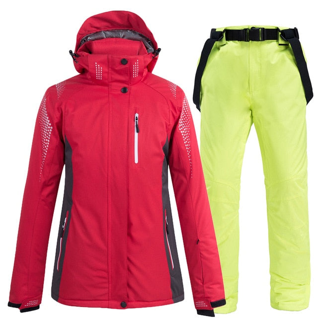 Ski Suit Men and Women winter street waterproof windproof Moisture-proof thermal Snow jacket and pants ski and snowboard suits