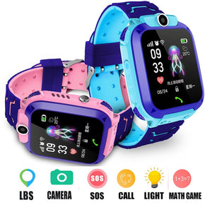 Kids Multi Function LBS Call Smart Watch With Camera Flashlight  IP67 Waterproof Smartwatch Children Gift For IOS Android