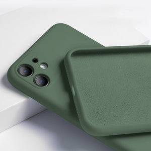 full cover camera liquid silicone phone case for iphone 11 pro max 12 mini x xs xr 8 7 6 6s plus 5 5s se official quality cover