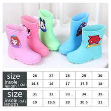 Load image into Gallery viewer, Original Disney Rain Boots Kids For Boys Girls Cute Boots snowboots Waterproof Baby Non-slip Rubber Water Shoes Children Rainboo