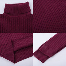 Load image into Gallery viewer, Winter Warm Turtleneck Sweater Men Vintage Tricot Pull Homme Casual Pullovers Male Outwear Slim Knitted Sweater Solid Jumper