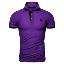 Load image into Gallery viewer, Dropshipping 13 Colors Brand Quality Cotton Polos Men Embroidery Polo Giraffe Shirt Men Casual Patchwork Male Tops Clothing Men