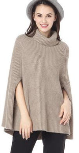 100%goat cashmere woman's fashion pashmina pullover sweater batwing sleeveless high collar 2strands yarns thick knit Fsize
