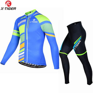X-Tiger Winter Thermal Fleece Cycling Jersey Maillot Ropa Ciclismo MTB Bike Clothes Wear Keep Warm Bicycle Clothing Cycling Set