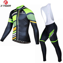 Load image into Gallery viewer, X-Tiger Winter Thermal Fleece Cycling Jersey Maillot Ropa Ciclismo MTB Bike Clothes Wear Keep Warm Bicycle Clothing Cycling Set