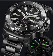 Load image into Gallery viewer, Yelang Men Automatic Watch Tritium T100 Light Switzerland ETA Movement 25Jewels Rotate Dial Date Day Diver Watch Waterproof300m