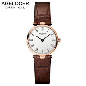 AGELOCER Swiss Brand Women Watches Ladies 2019 Luxury Famous Female Clock Quartz Watch Wrist Relogio Feminino Montre Femme