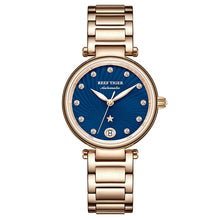 Load image into Gallery viewer, Reef Tiger/RT Luxury Brand Women Wrist Watch Rose Gold Blue Dial Automatic Watches Diamond Ladies Bracelet Watches RGA1590