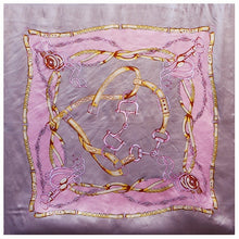 Load image into Gallery viewer, Large Hijab Scarves For Women Fashion Print Silk Satin Scarf Female 90cmx90cm Luxury Brand Square Shawls Head Scarfs For Ladies