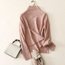 Load image into Gallery viewer, Shuchan Turtleneck Sweater Cashmere Sweater Female 2018 Autumn Rib Knitted Women 100% Cashmere Sweater Jersey Jumper Pull Femme