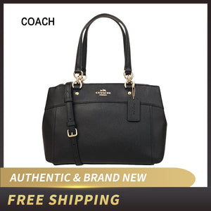 Coach Womens Mini Brooke Carryall Handbag, Signature Crossgrain Leather, Detachable Crossbody Strap F25395