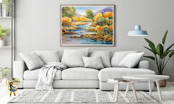 "South Llano Texas Riverscape Fine Art Paper Prints 20 x 16"" Premium Giclee Paper 1/2"" Extra Border Added Mfg #: 1-20 x 16"" Premium Giclee Paper-Rodeo Queen Fine Art-Rodeo Queen Fine Art"