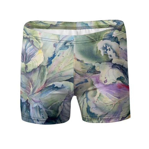 "Swimming Trunks | Cabbage Adage | Texas Watercolor | Rodeo Queen Fine Art-Swimming Trunks-Rodeo Queen Fine Art-XS 28-30""-Slinky Matte Lycra 6.19 oz-Rodeo Queen Fine Art"