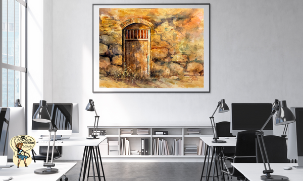 "Sanctuary Mission Door Canvas 20 x 16"" Artisan Archival Canvas Thick Gallery Wrapped- Mfg #: 1-20 x 16"" Artisan Archival Canvas-Rodeo Queen Fine Art-Rodeo Queen Fine Art"