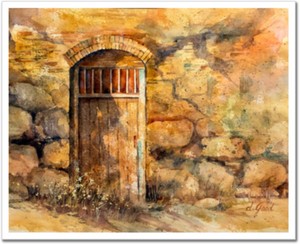 "Sanctuary Mission Door Fine Art Paper Prints 20 x 16"" Premium Giclee Paper 1/2"" Extra Border Added Mfg #: 1-20 x 16"" Premium Giclee Paper-Rodeo Queen Fine Art-Rodeo Queen Fine Art"