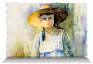 "The Girl and Her Dog When They Were Young | Pillows Pillowcase Only - Adult (30x20"") Mfg #: 1-5001-Pillows-Rodeo Queen Fine Art-Rodeo Queen Fine Art"