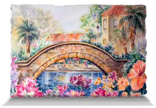 "Rosita's Bridge over San Antonio Riverwalk | Pillows Pillowcase Only - Adult (30x20"") Mfg #: 1-5001-Pillows-Rodeo Queen Fine Art-Rodeo Queen Fine Art"