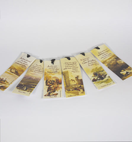 Holy Land Bookmarks - 6 kinds ( each one $ 2.50)- souvenirs