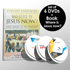 Dr. J. David Pawson's set, 6 DVDs + Book Where is Jesus now? - DVD