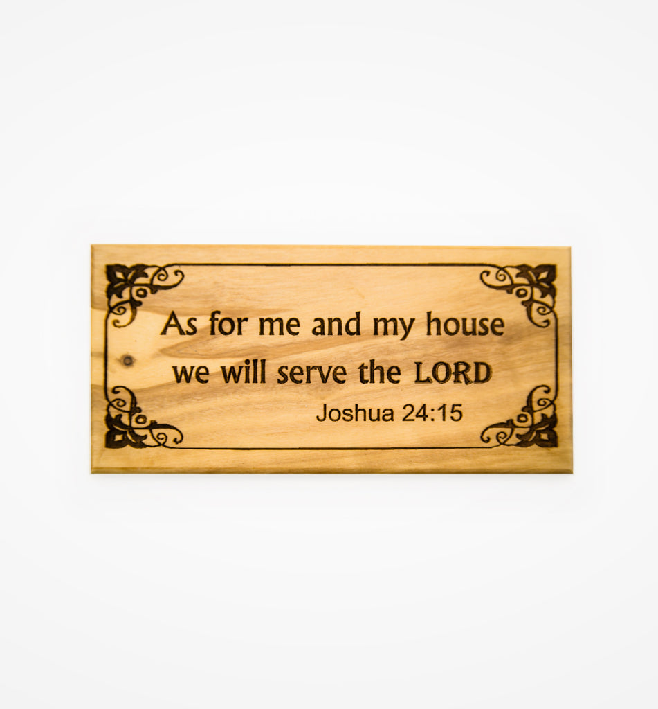 Olive Wood Door Plaques (available in 7 languages)