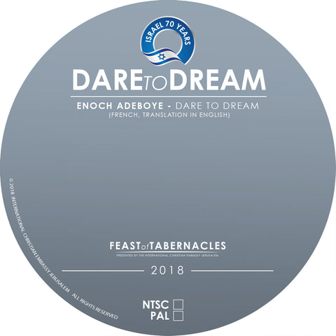 2018 Enoch Adeboye, Evening Celebration,Dare to Dream, - DVD