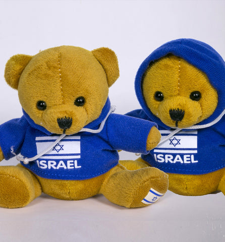 Teddy-bear with Israeli flag- souvenir