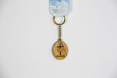Olive wood key chain  - souvenirs