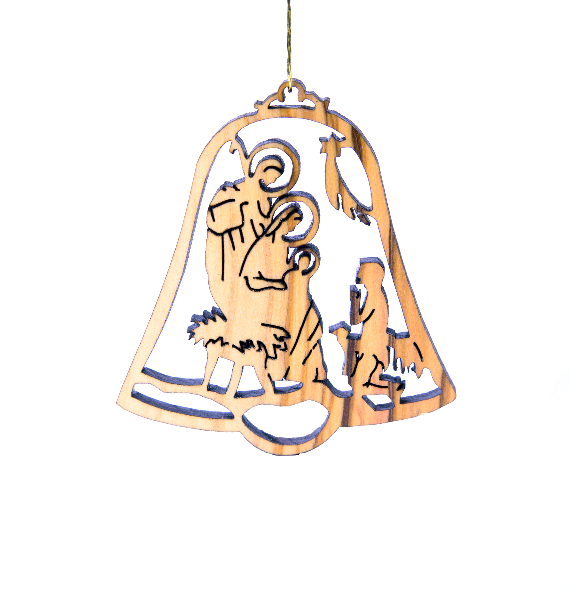 Laser Engraved Christmas Ornaments - Olive wood | ICEJ Store
