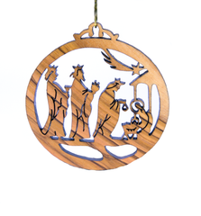 Laser Engraved Christmas Ornaments - Olive wood