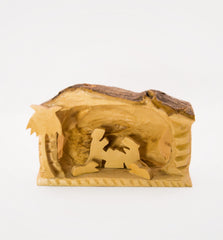 Small Nativity Scene - olive wood, hand carved