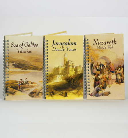 Notebooks: Davids Tower, Golden Gate, Sea of Galilee, Nazareth - souvenirs