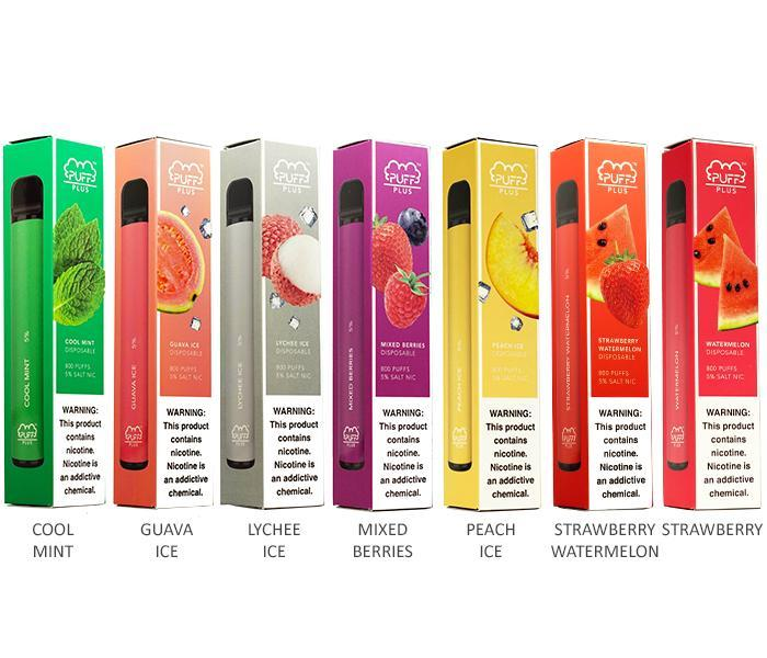 Puff Plus Disposable E-Cigs 5% Nicotine - Vibe Vapes