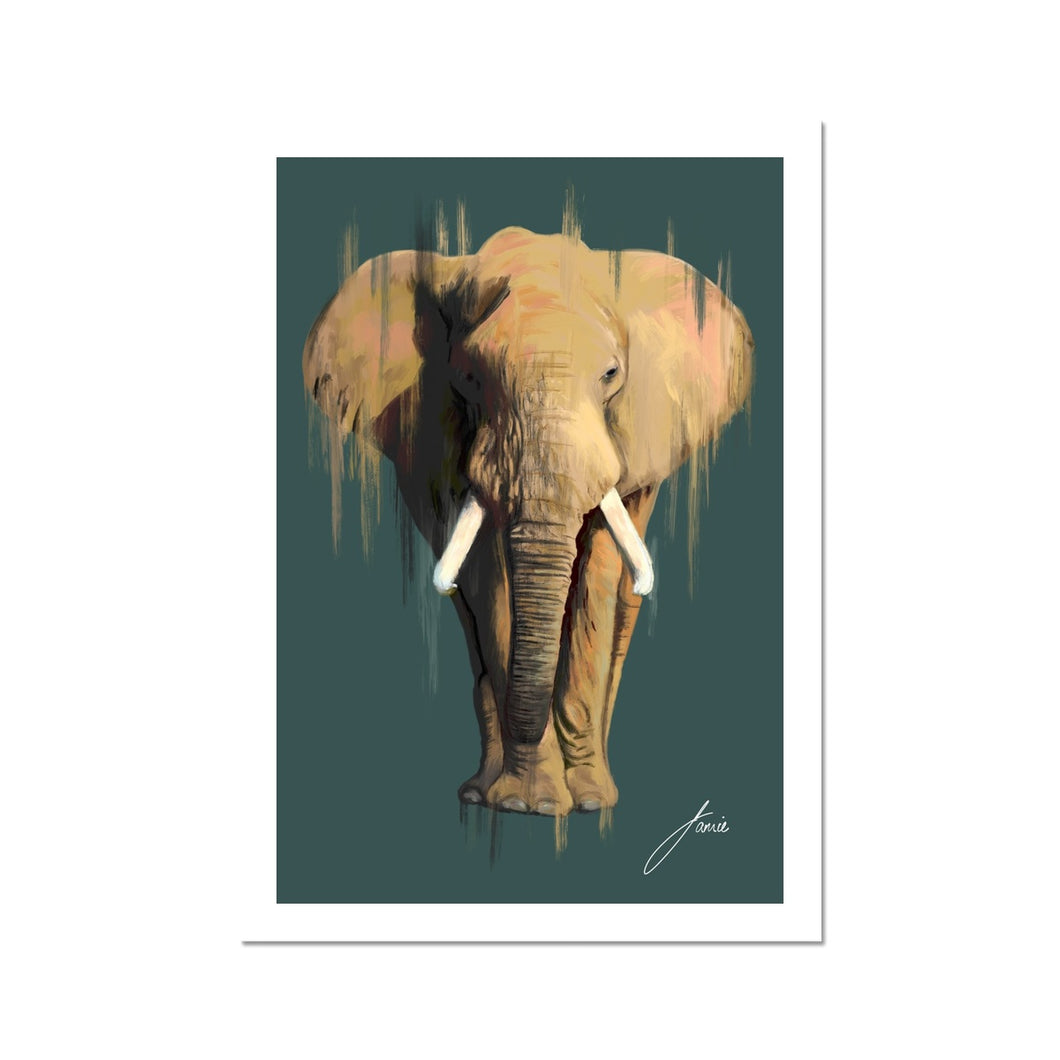 African Elephant fine art print artwork