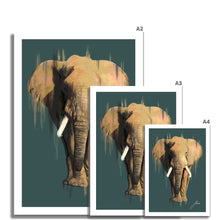 Load image into Gallery viewer, African Elephant fine art print artwork various sizes