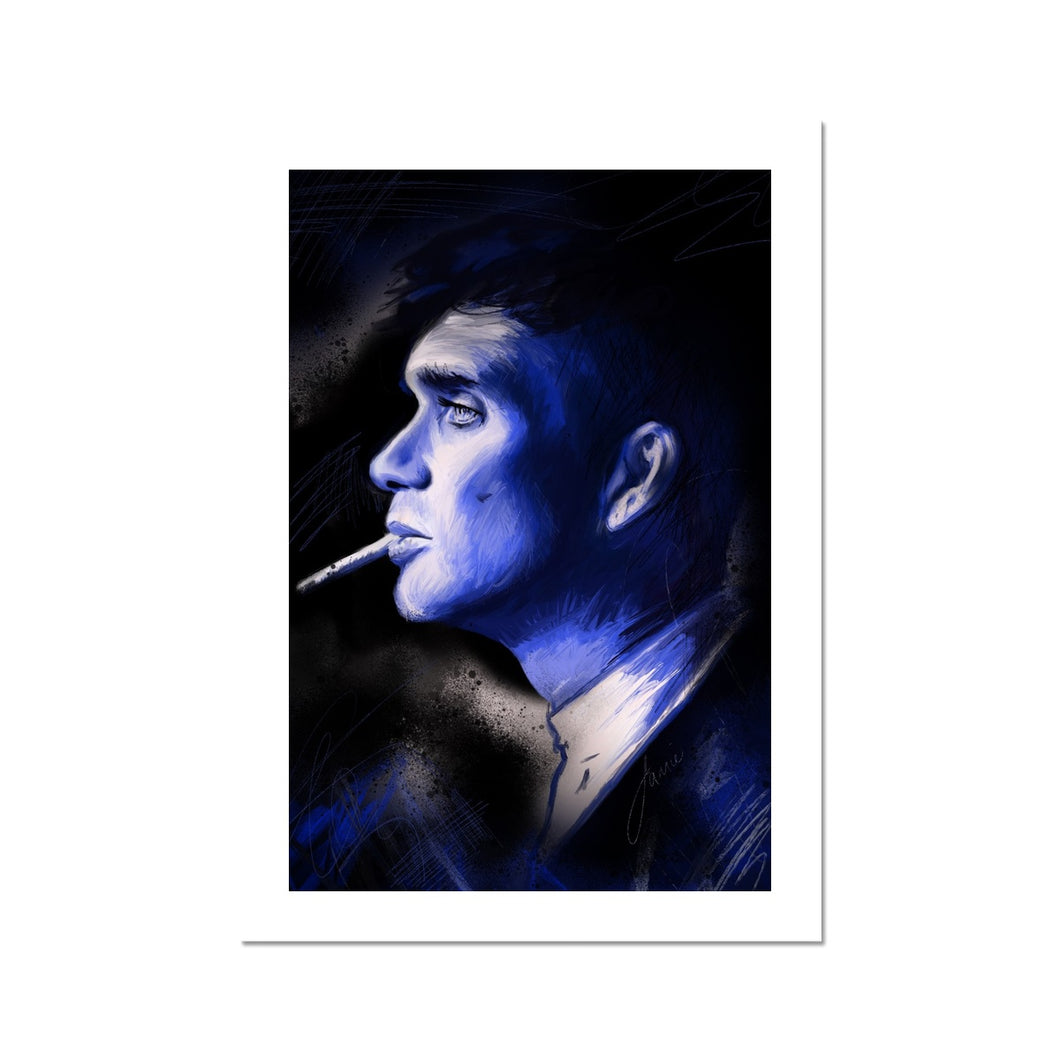Peaky Blinders star Thomas Shelby II Portrait Fine Art Print artwork