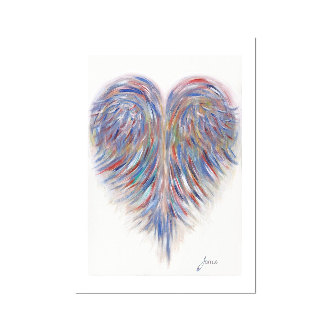 bright colourful always in my heart print